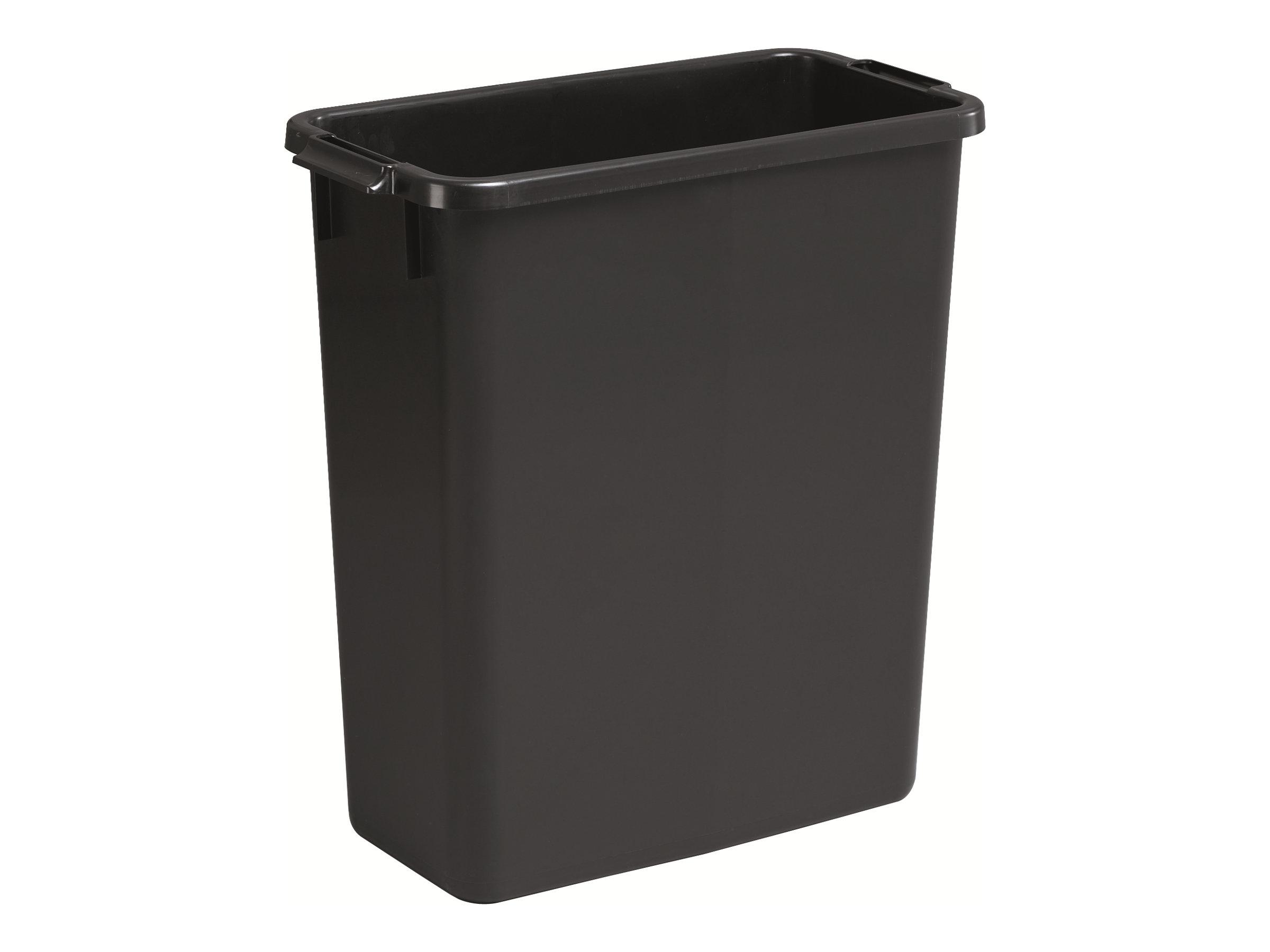 Durable - Poubelle 60L - poignées latérales - noir