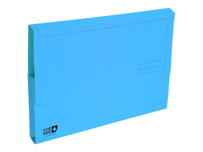 Exacompta Clean'Safe - 5 Chemises à poche - A4 - bleu