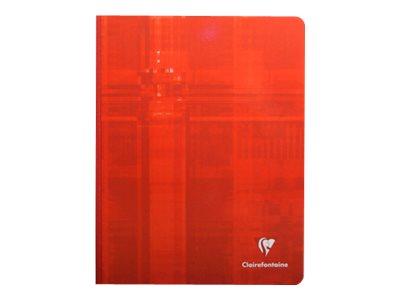 Clairefontaine - Cahier broché 17 x 22 cm - 192 pages - grands carreaux (Seyes) - disponible dans différentes couleurs