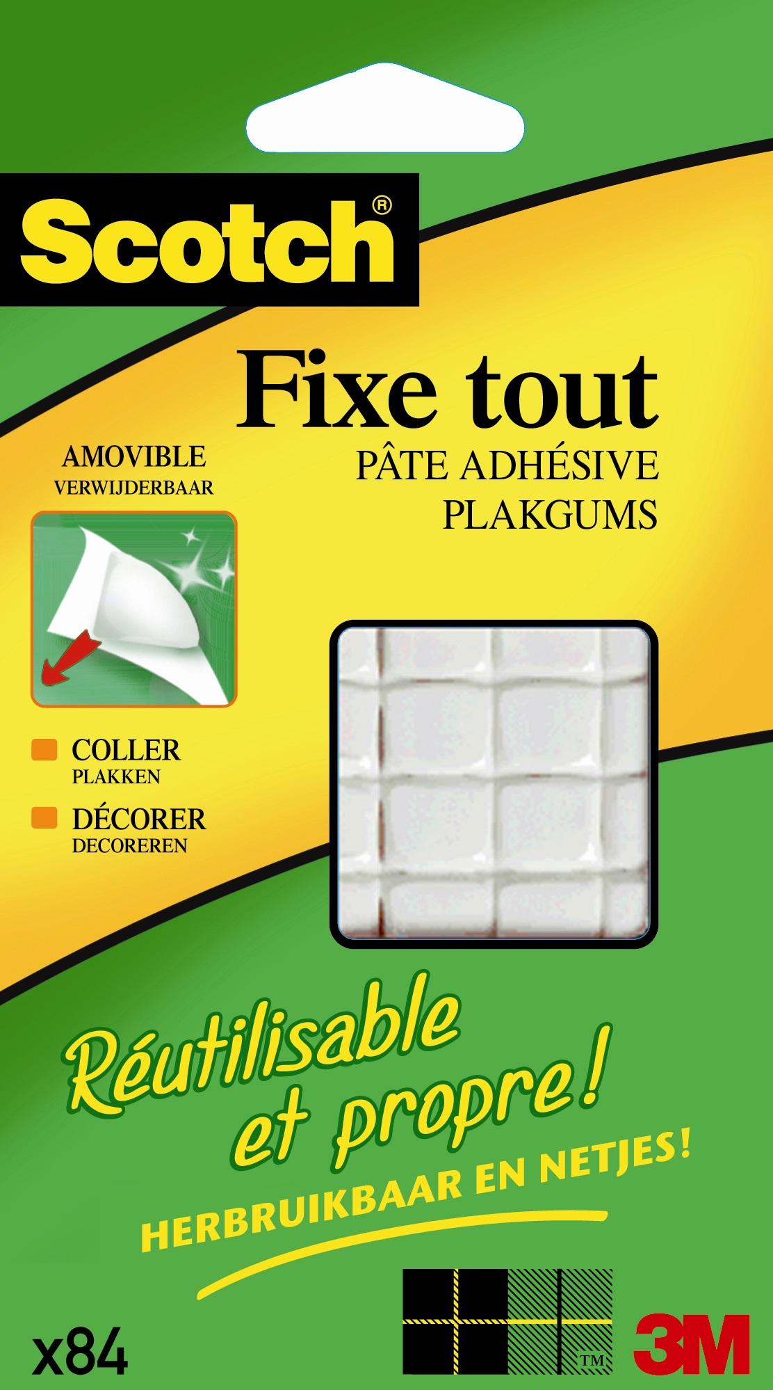Scotch Fixetout - Pâte adhésive : pack de 84 carrés