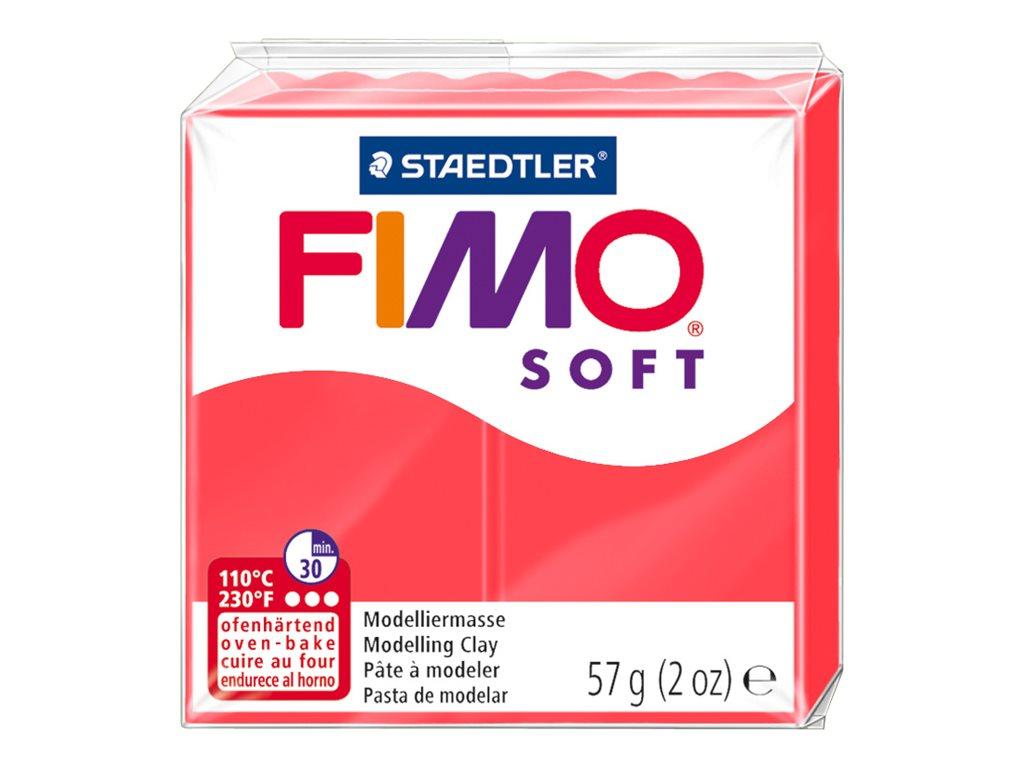 Pâte Fimo Soft -  rose flament - 57G