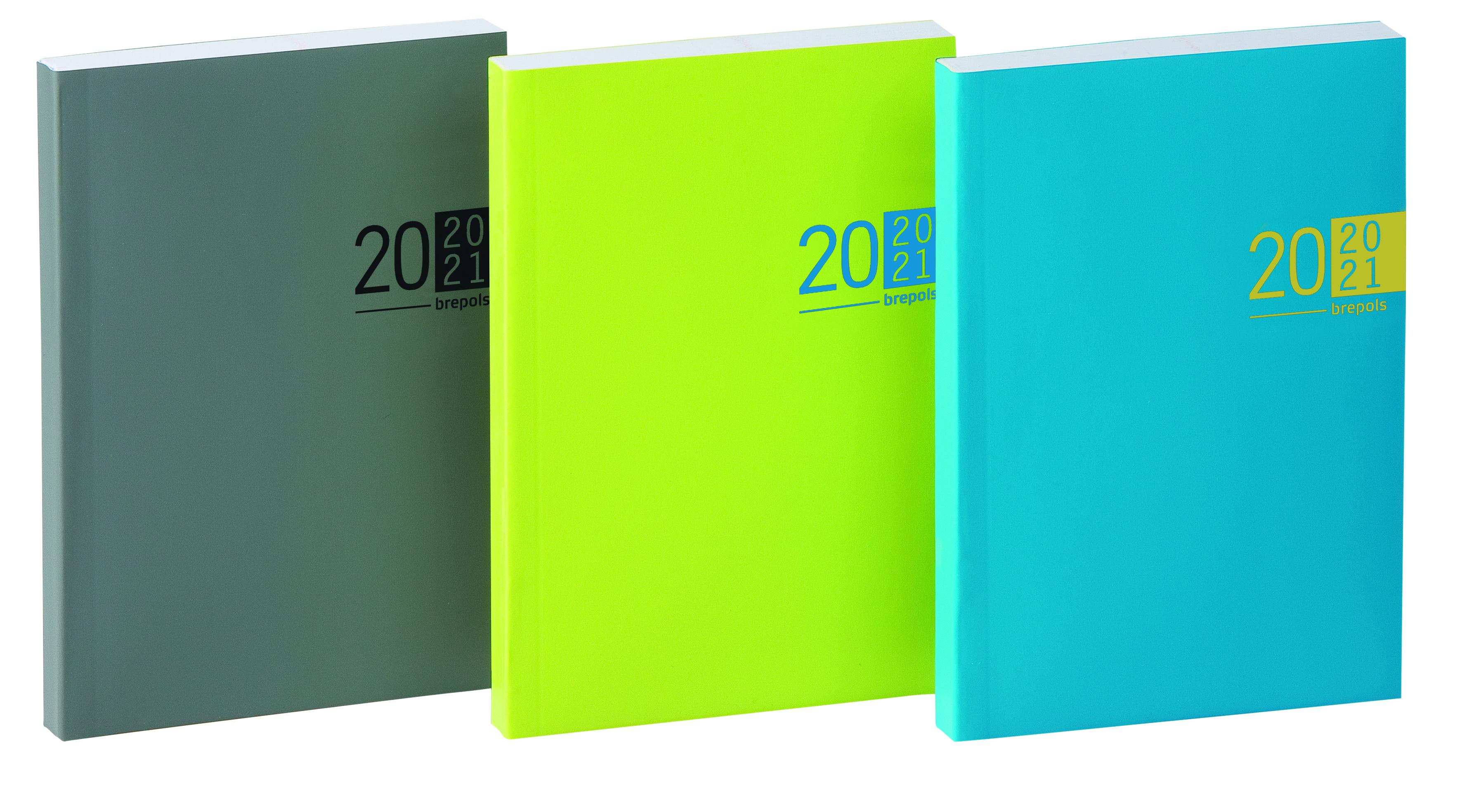 Agenda Veneto - 1 jour par page - 11,6 x 16,9 cm - 3 coloris disponibles - Brepols