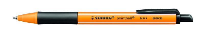 STABILO pointball - Stylo à bille - 0.5 mm - noir