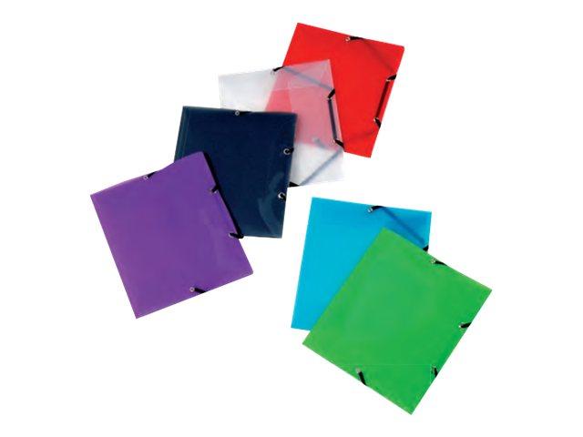 Viquel Propyglass - Chemise polypro à rabats - 17 x 22 cm - disponible dans différentes couleurs