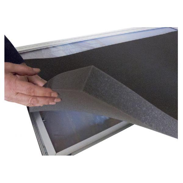 Mousse à absorbtion acoustique pour cloison EASYSCREEN - L160 x H 174 cm - noir
