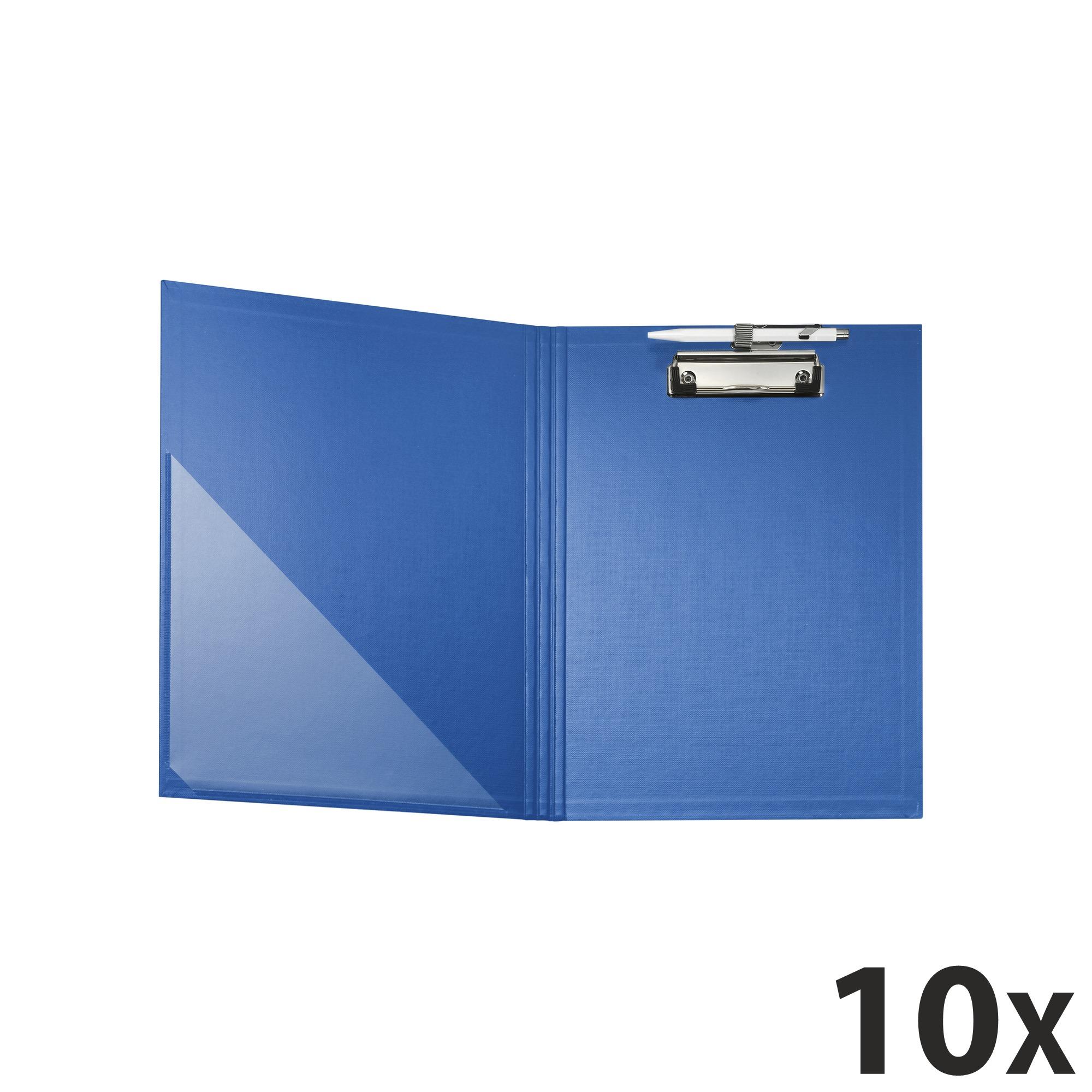 Exacompta - 10 Porte blocs à rabat - A4 - bleu