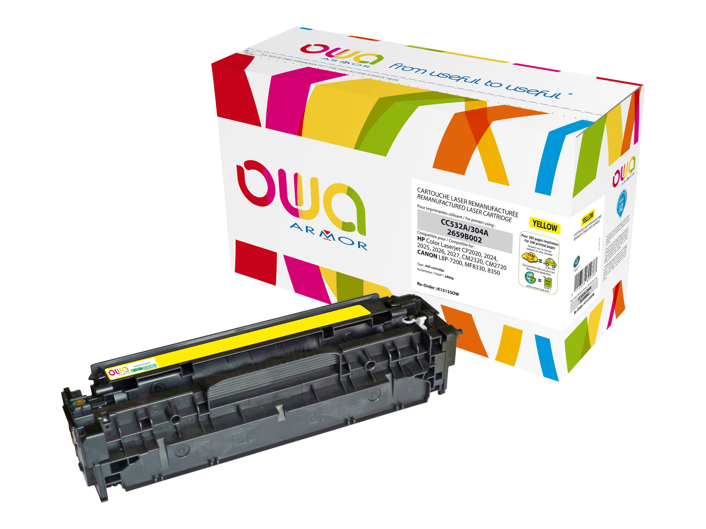 HP 304A - remanufacturé Owa K15135OW - jaune - cartouche laser