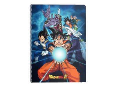 Dragon Ball - Cahier à spirale A4 - 240 pages - ligné avec 3 interlignes - Clairefontaine