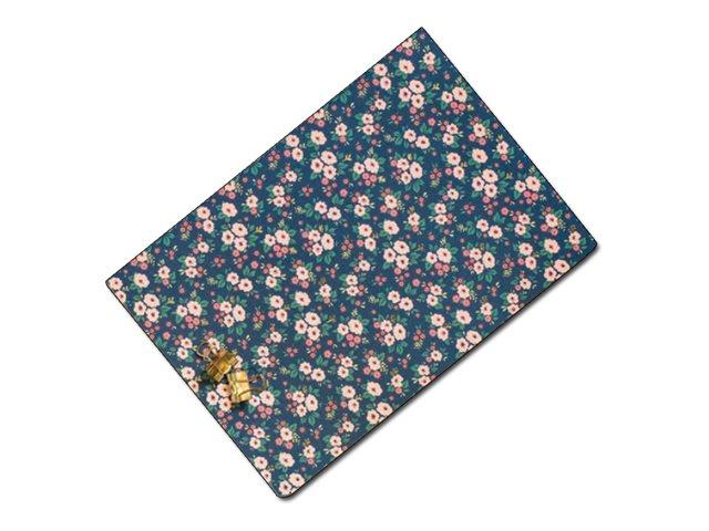 Oberthur Bahia - Carnet de notes souple A5 - ligné - 200 pages - petites fleurs