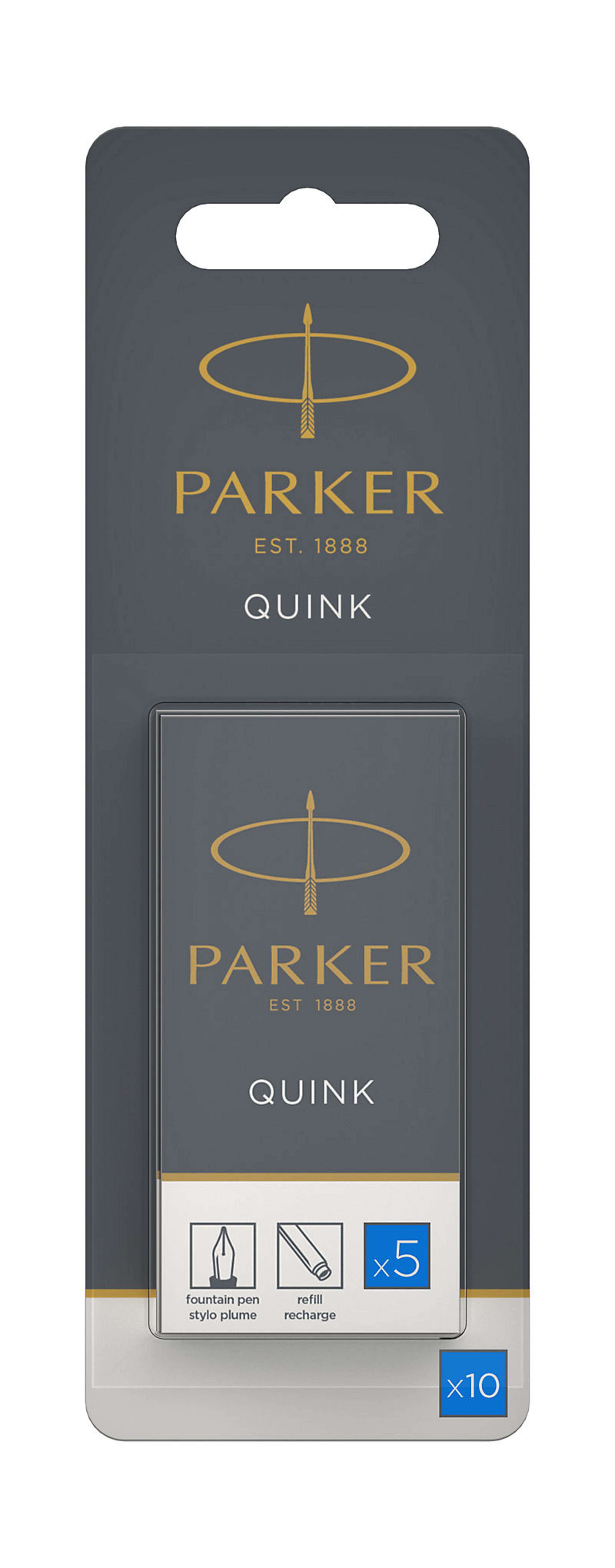 Parker - 10 cartouches d'encre pour stylo plume - bleu