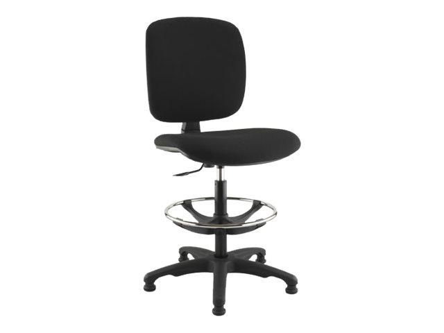 Siège technique KILIMA - tabouret assis-debout - hauteur réglable jusqu'à 80 cm - repose-pieds - noir