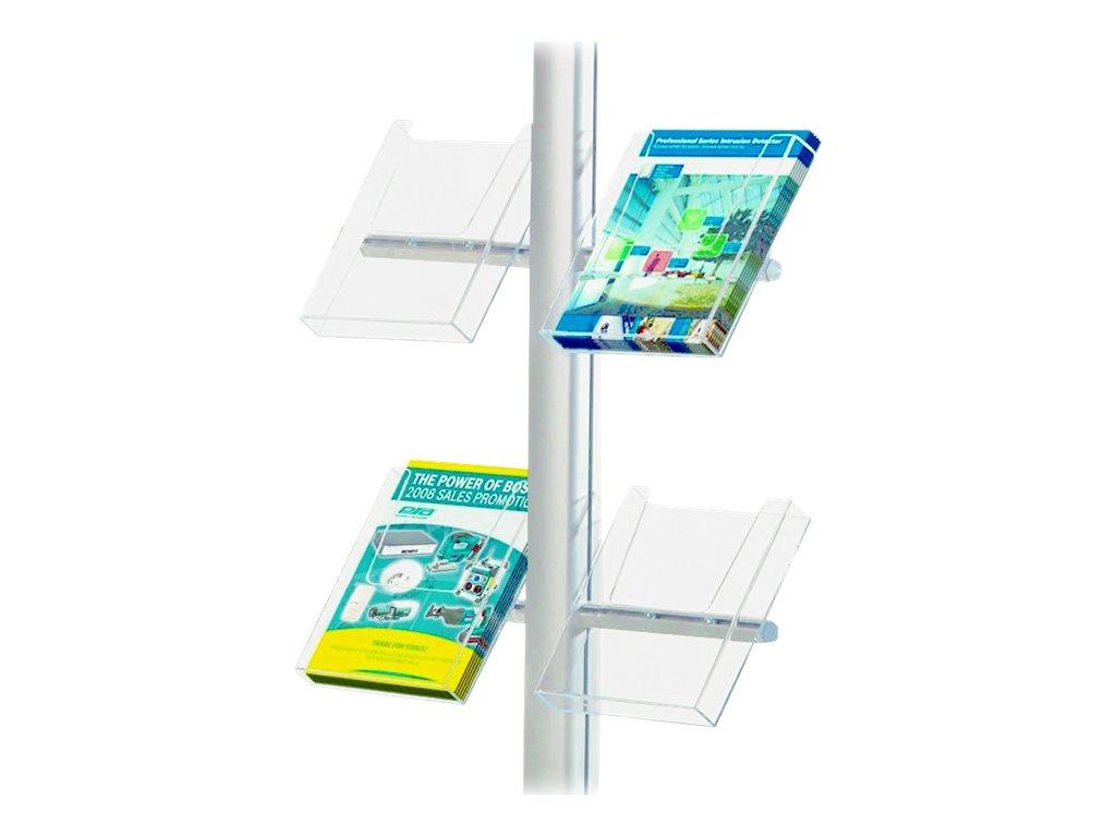 Promocome - 8 Bacs inclinés pour porte-brochures A4 PBINC