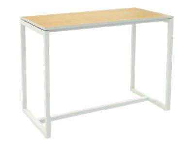 Table haute EASYDESK - L114 x P75 x H110 cm - plateau hêtre