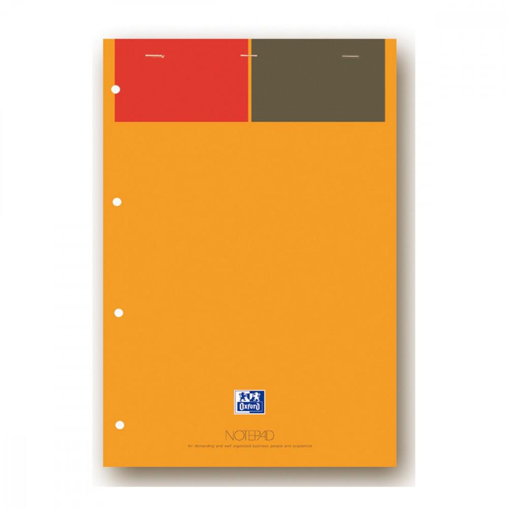 Oxford International - Bloc notes - A4 - 160 pages - gradué - perforé