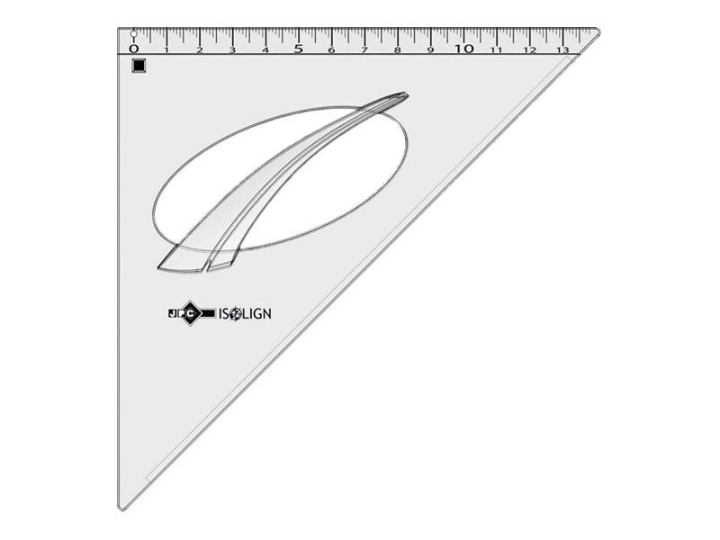JPC  équerre 21 cm  45°, 45°