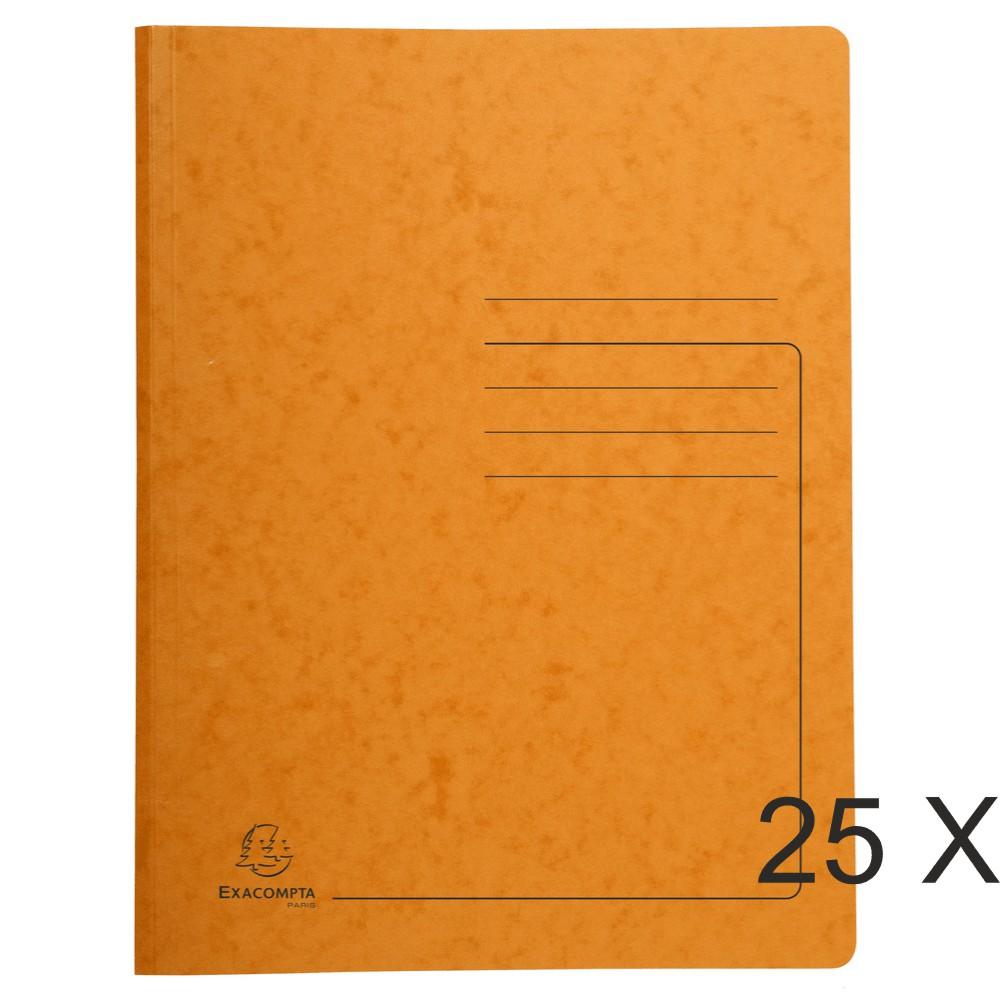 Exacompta - 25 Chemises de classement à ressort - orange