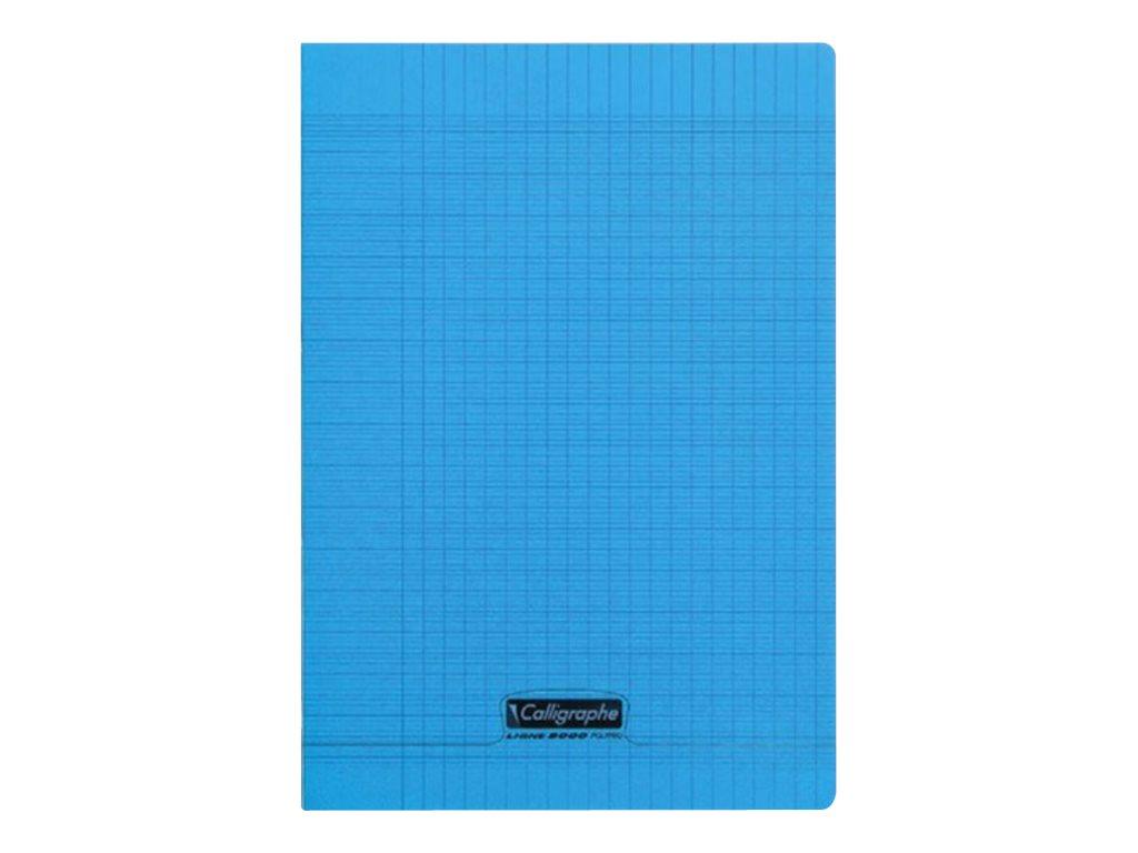 Calligraphe 8000 - Cahier polypro A4 (21x29,7 cm) - 96 pages - petits carreaux (5x5 mm) - bleu