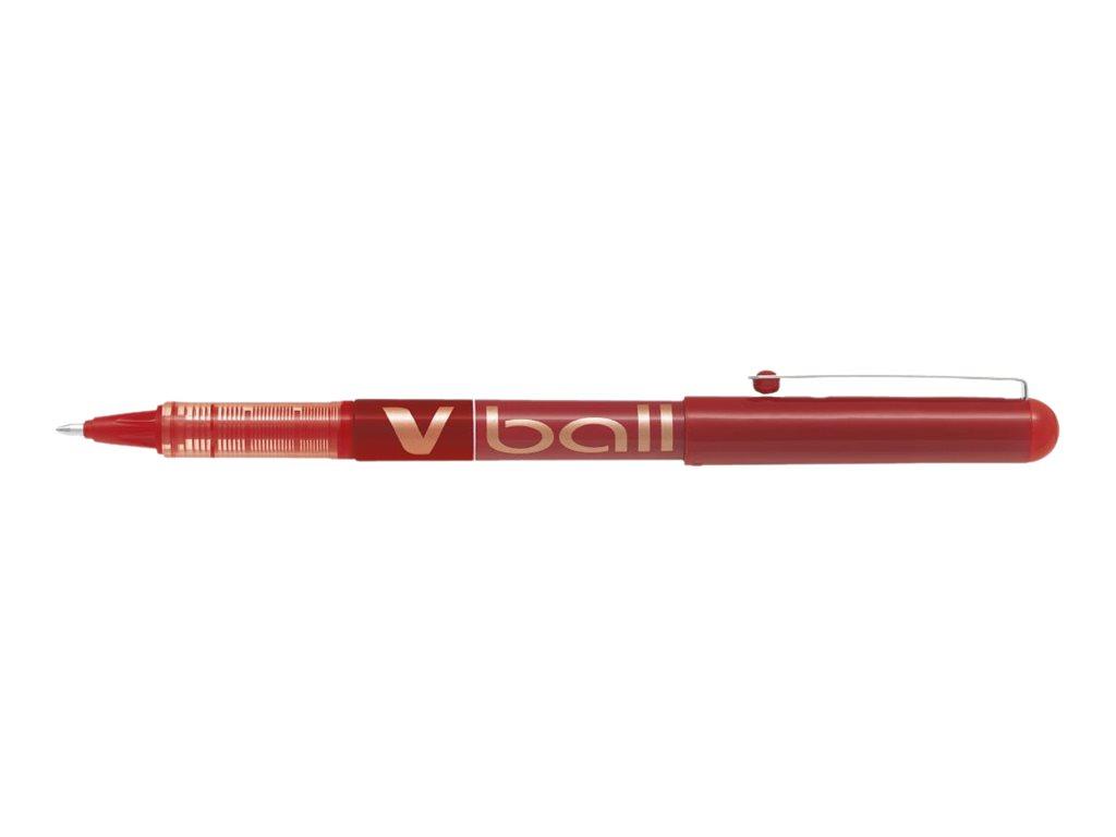 Pilot Vball - Pack de 12 - rollers - 1mm - rouge