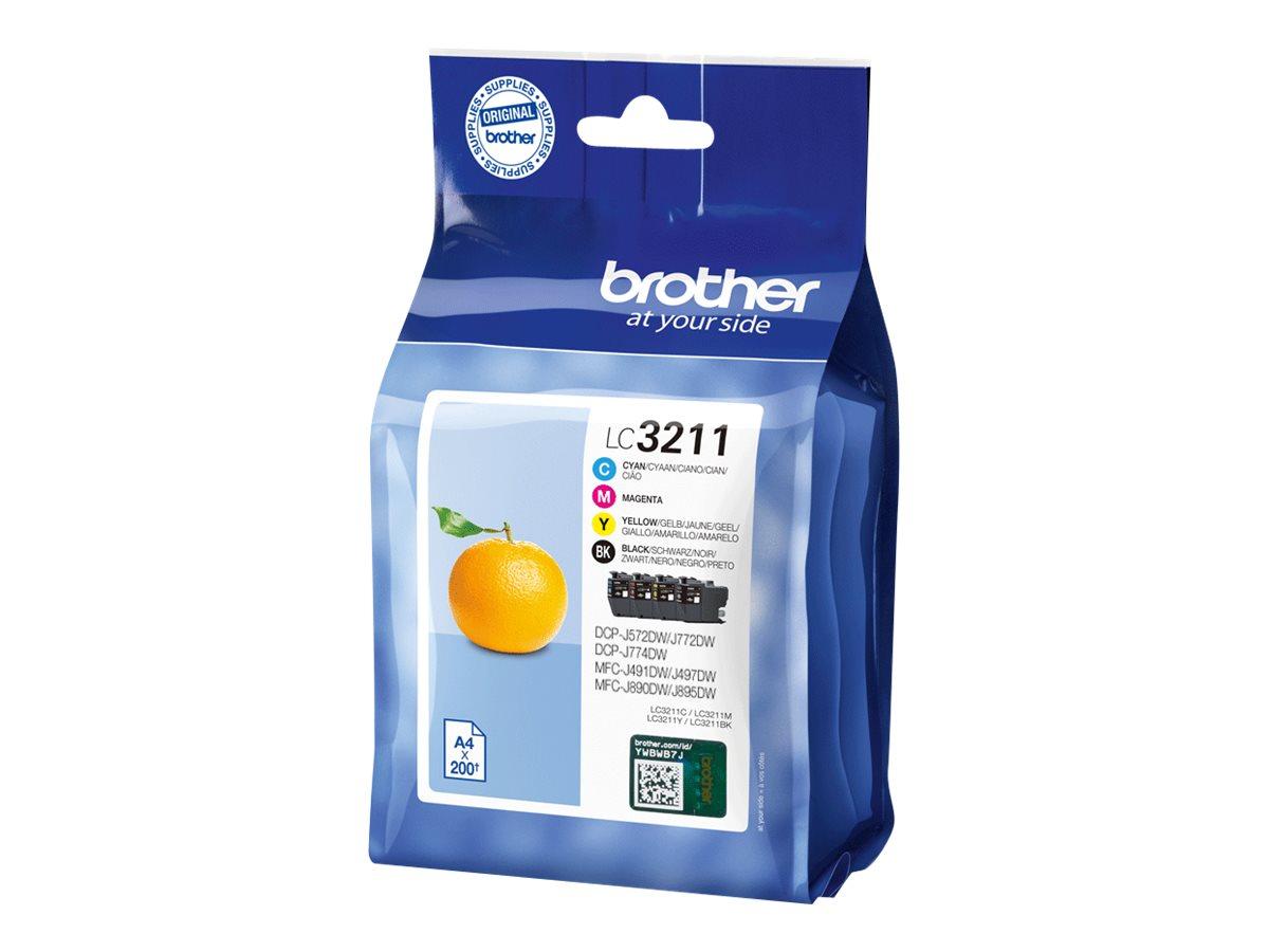 Brother LC3211 - pack de 4 - noir, cyan, magenta, jaune - cartouche d'encre originale