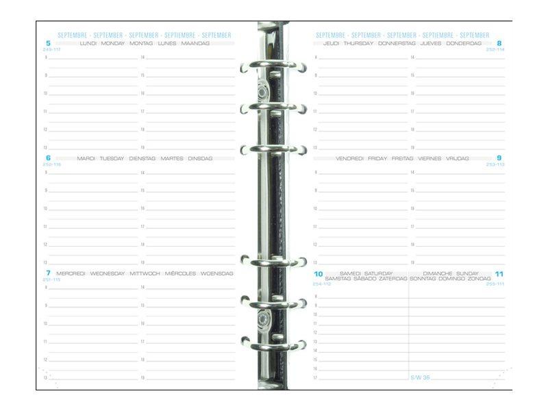 Exacompta Exatime 17 - Recharge pour organiseur - 1 semaine sur 2 pages à l'horizontal - 16 mois - 10,5 x 17,2 cm