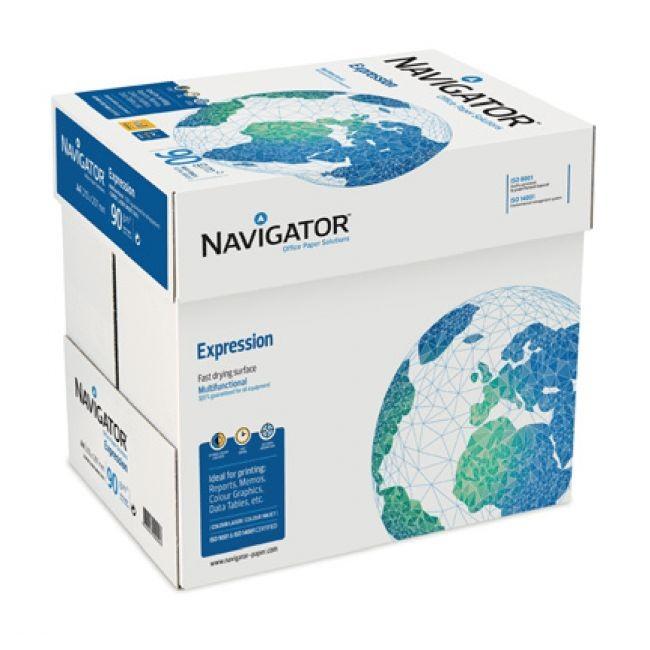Navigator Expression - Papier blanc - A4 (210 x 297 mm) - 90 g/m² - 2500 feuilles (carton de 5 ramettes)