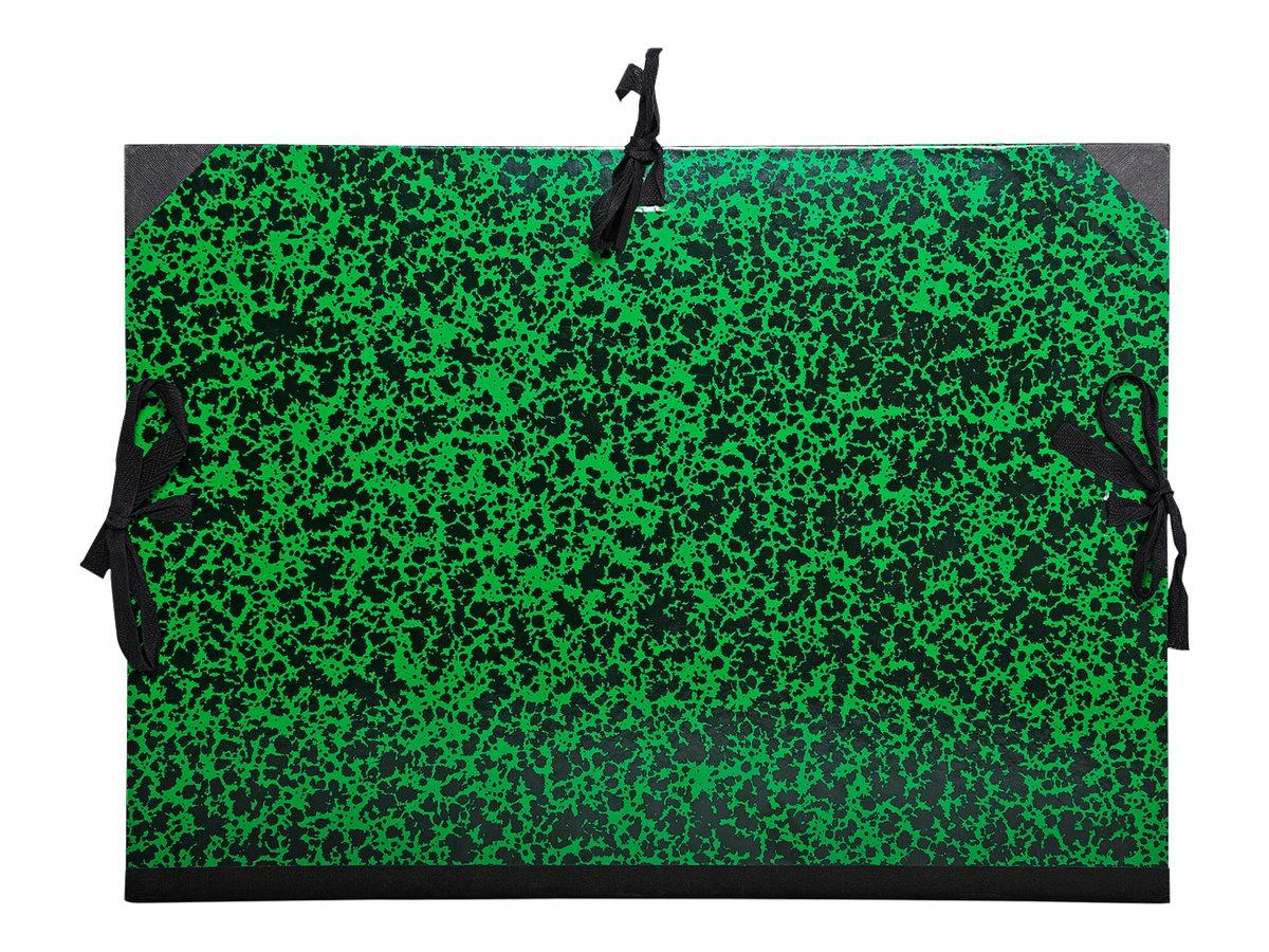 Exacompta - Carton à dessin - 26 x 33 cm - vert - fermeture par cordons