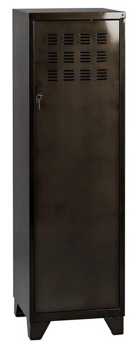 Casier de bureau avec pieds - 133 x 40 x 40 cm - noir vernis