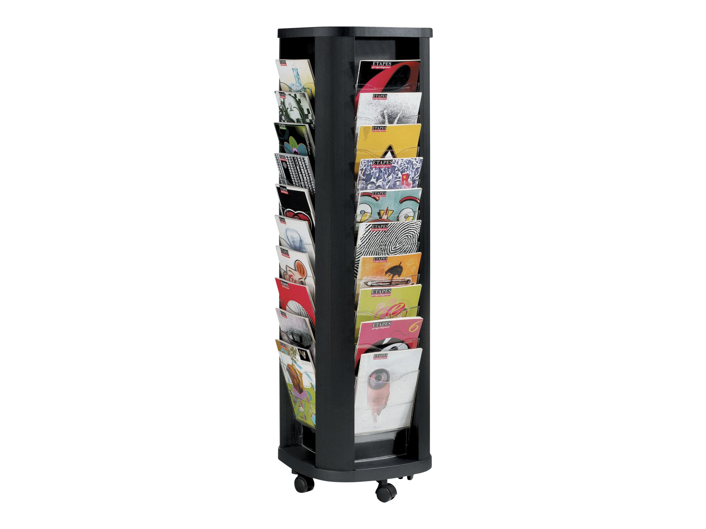 Paperflow - Présentoir mobile - 40 cases pour documents A4 - noir