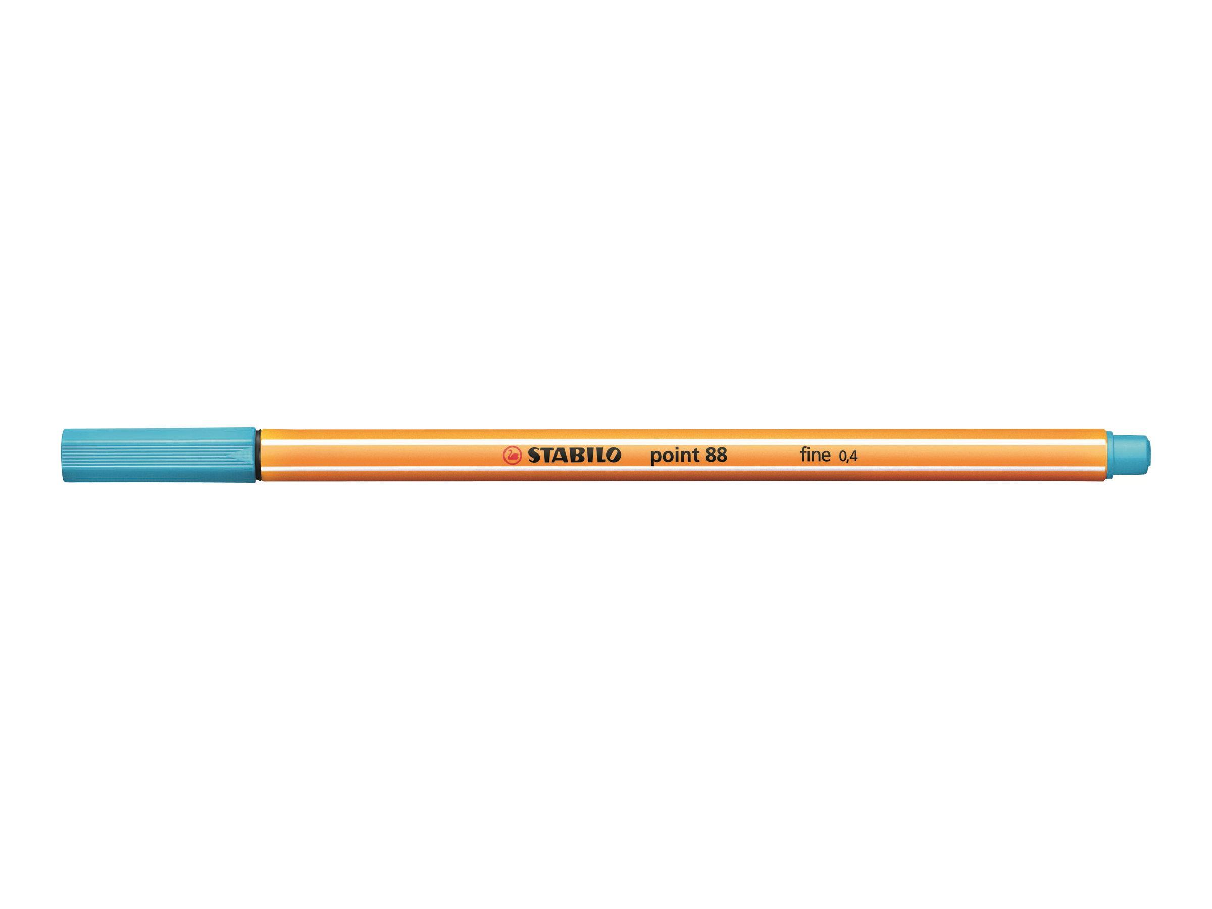 STABILO point 88 - Feutre fin - 0.4 mm - bleu azur