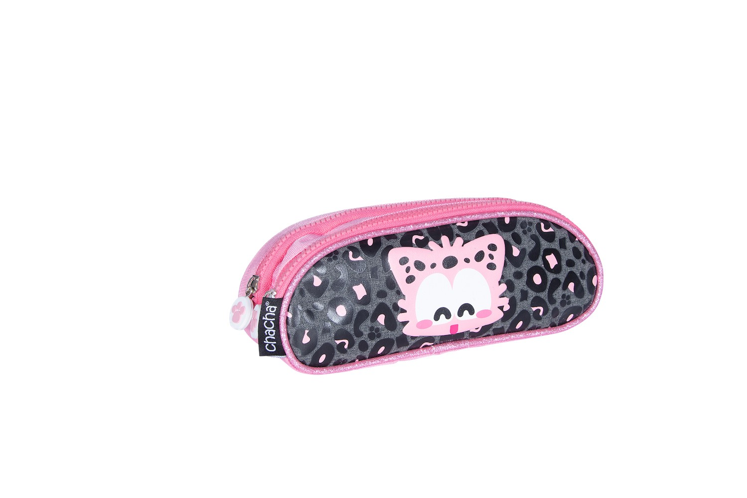 Trousse haricot CHACHA Leo - 2 compartiments - rose - Kid'Abord