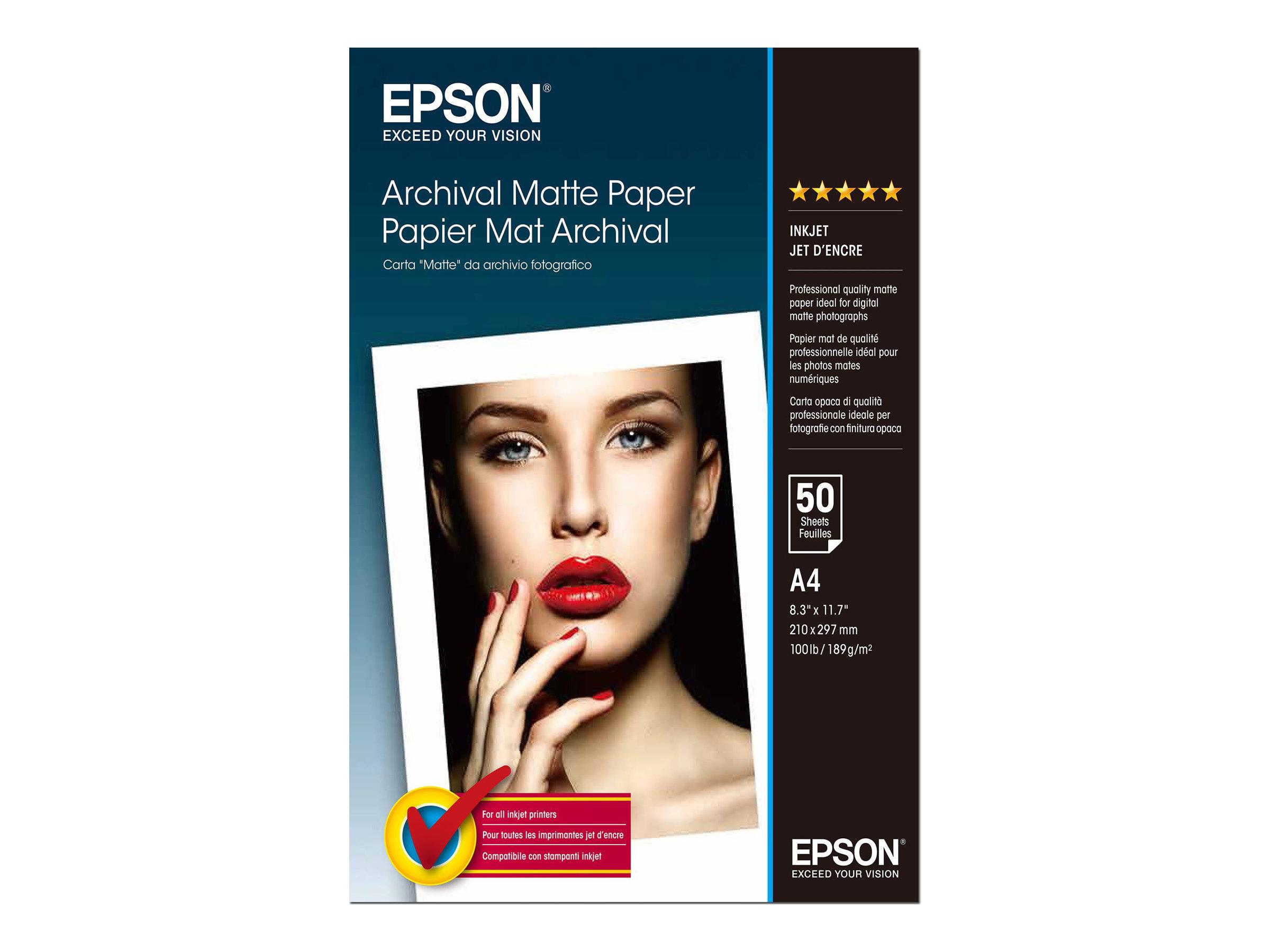 Epson - Papier photo mat - A4 - 192 g/m² - 50 feuilles