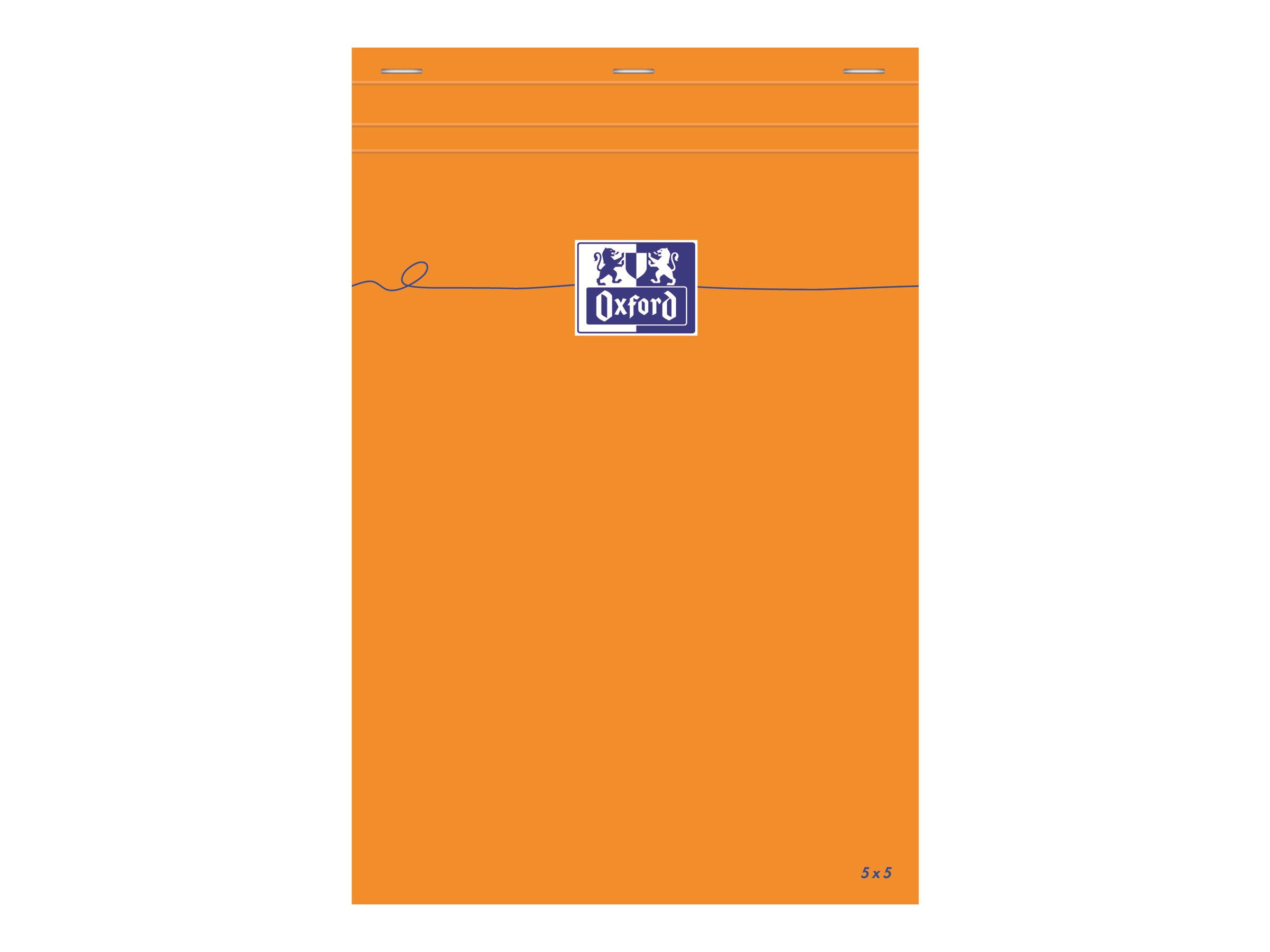 Oxford - Bloc notes - A4 + - 160 pages - petits carreaux - 80G