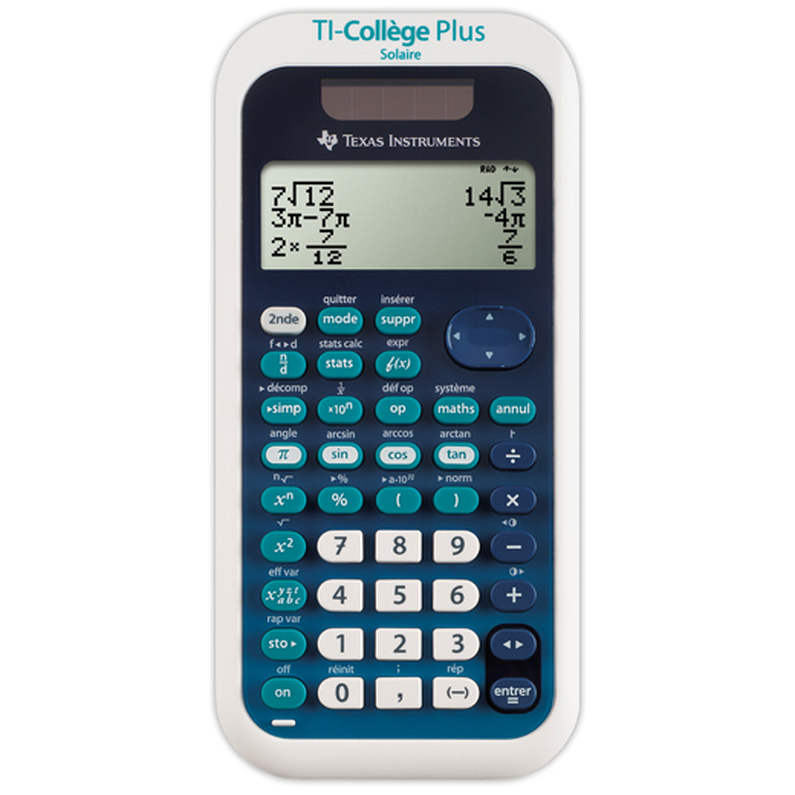 Calculatrice scolaire TI-College Plus - calculatrice speciale collège