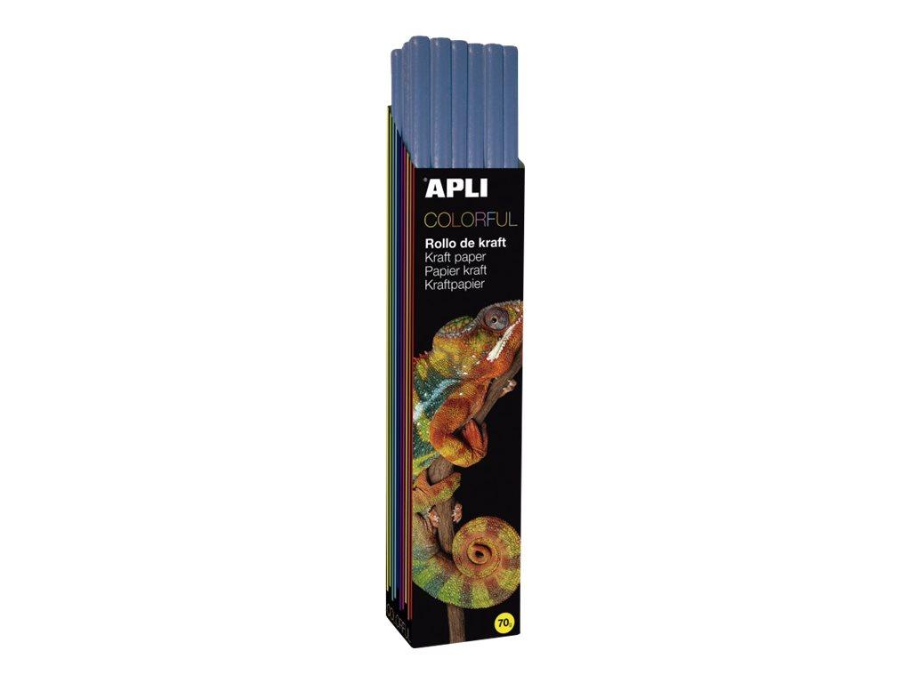 Apli Agipa - Papier cadeau kraft - 100 cm x 3 m - 70 g/m² - bleu