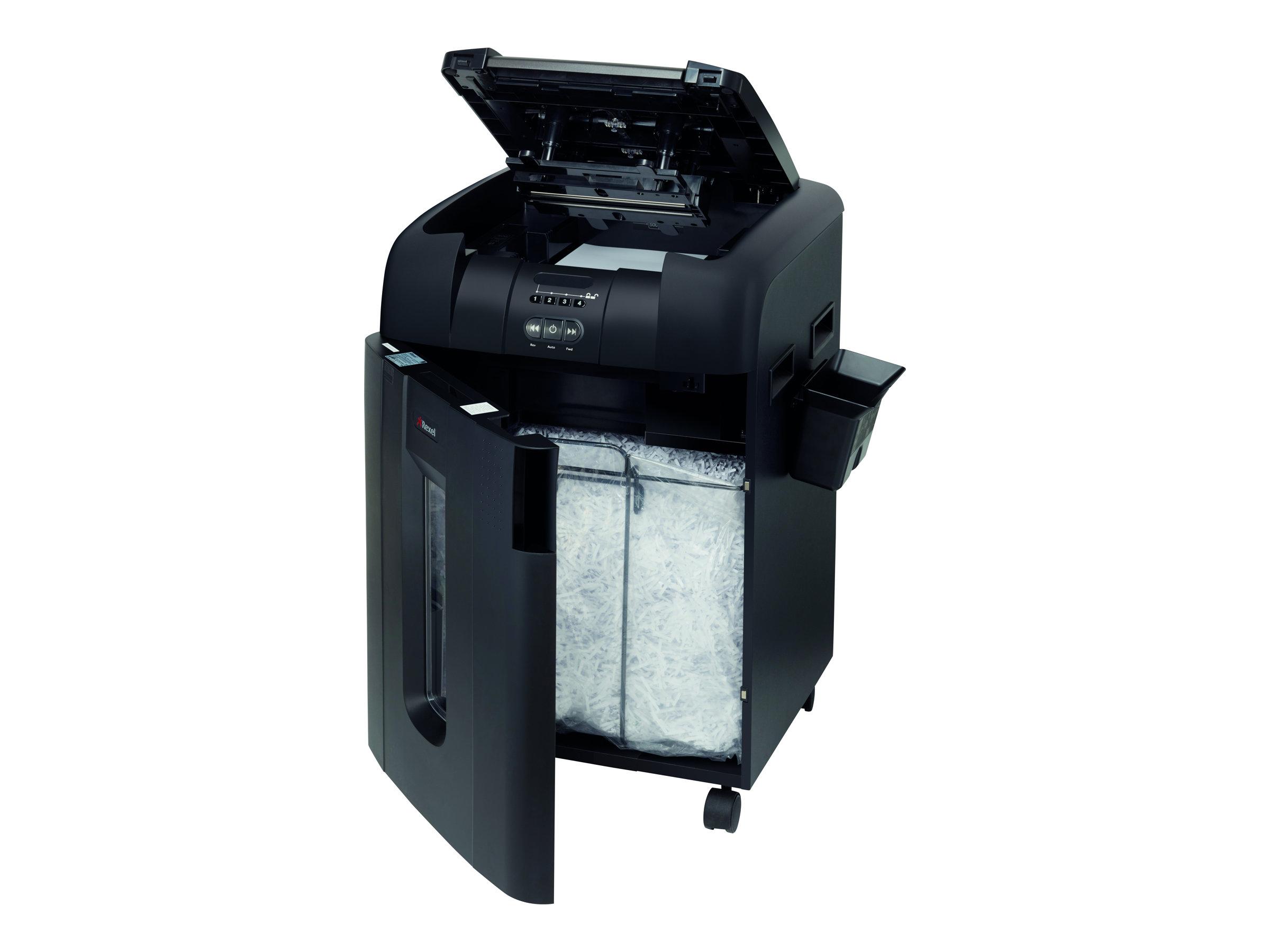 Rexel Auto+ 600X - destructeur de documents coupe croisée - 600 feuilles - Corbeille 80 litres