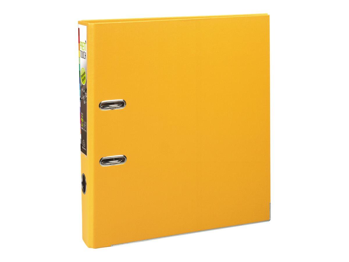 Exacompta Prem'Touch - Classeur à levier - Dos 50 mm - A4 Maxi - pour 400 feuilles - jaune