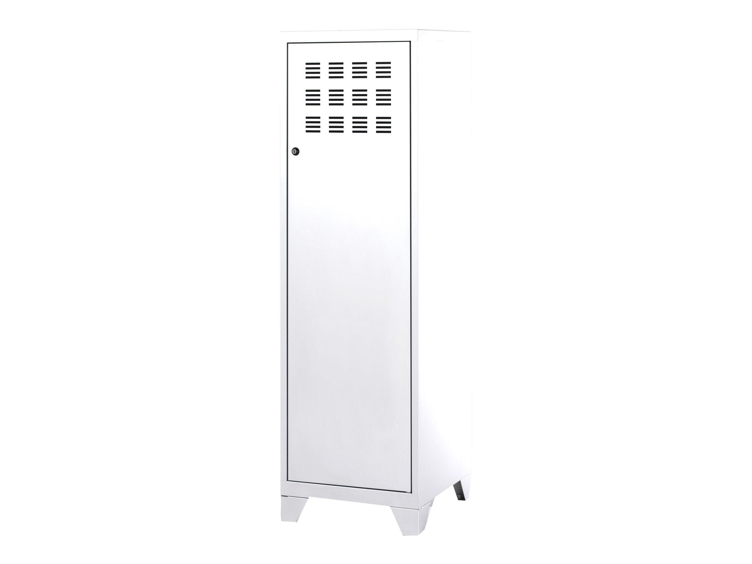 Casier de bureau avec pieds - 133 x 40 x 40 cm - blanc