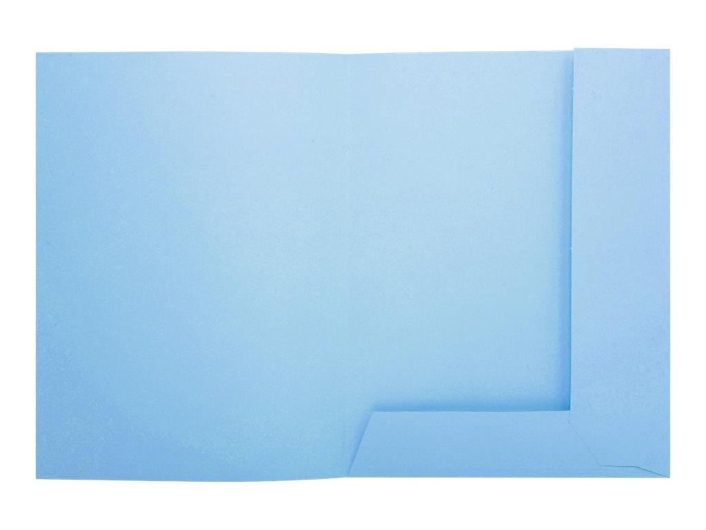 Exacompta Super 210 - 50 Chemises 2 rabats - 210 gr - bleu clair
