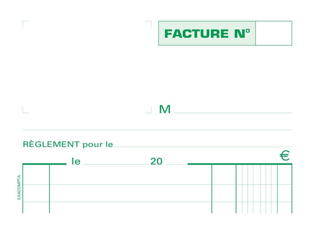 Exacompta - Manifold Carnet de factures - 50 dupli - 21 x 13,5 cm