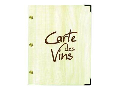 Bequet Authentic - Carte des vins rechargeable - 15 x 21,5 cm - imitation bois