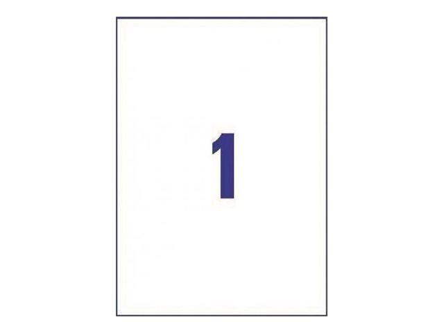 Avery - 30 Étiquettes ultra résistantes blanches - A4
