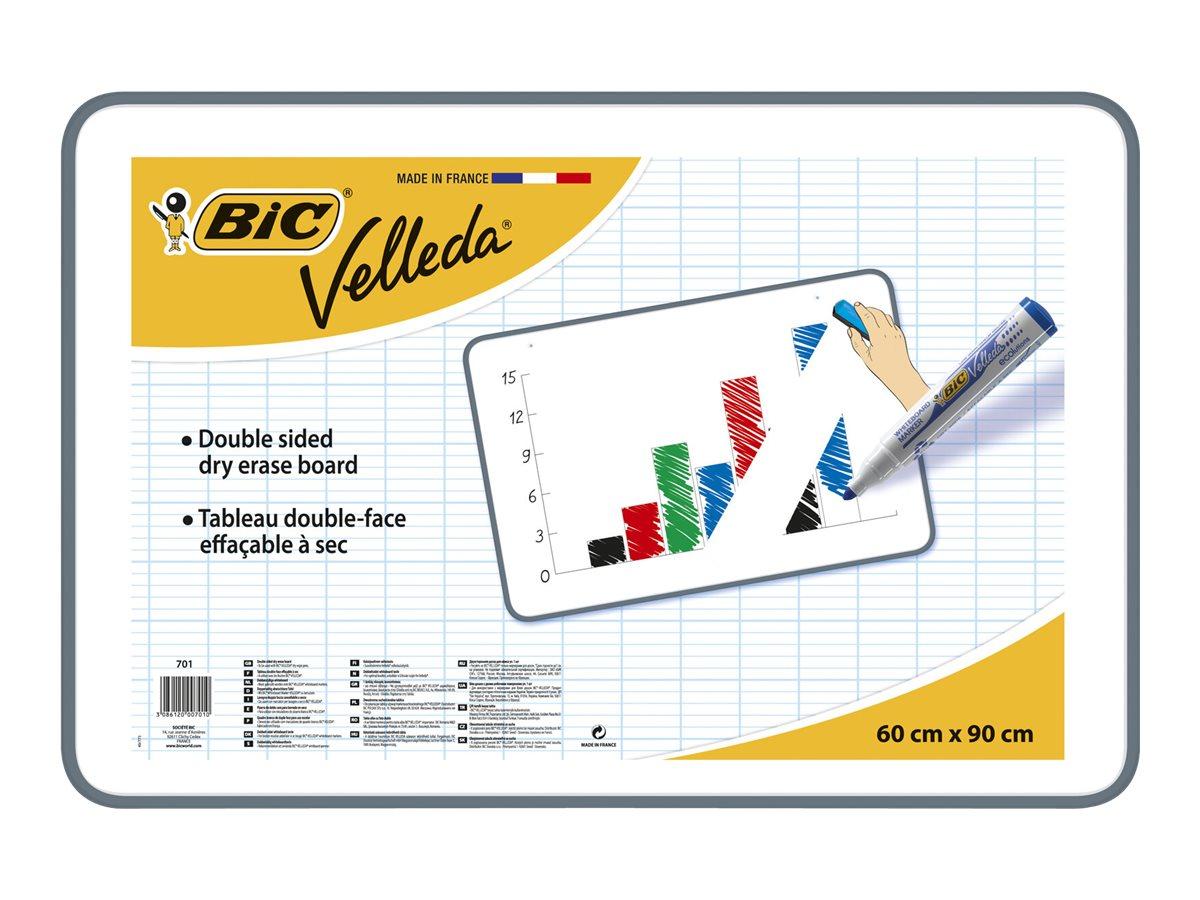 BIC Velleda - Ardoise blanche - 60 x 90 cm - double face