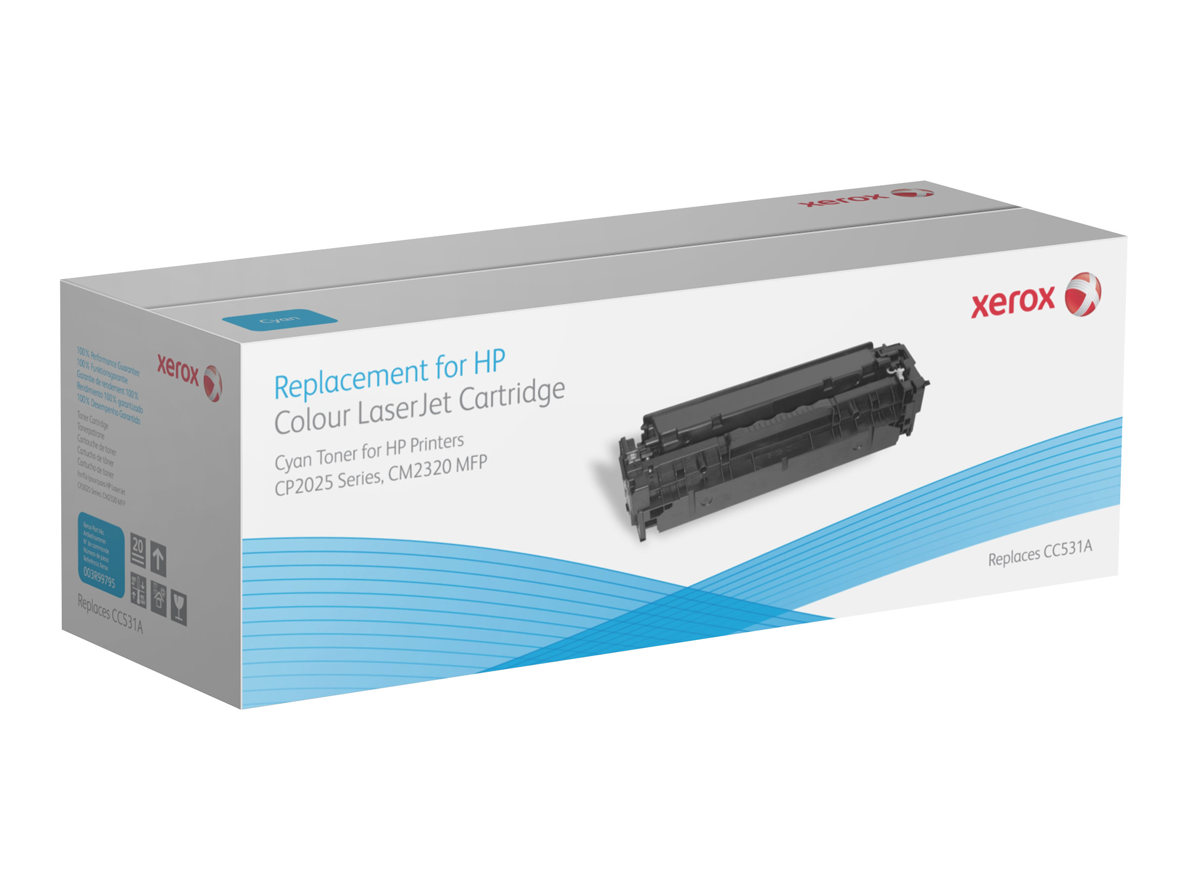 Xerox HP Colour LaserJet CM2320 MFP series - cyan - cartouche de toner (alternative pour: HP CC531A)