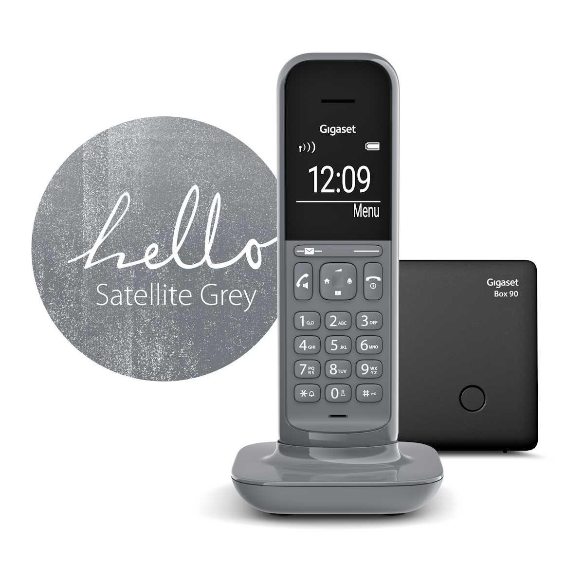 Gigaset CL390A - téléphone sans fil avec répondeur - gris