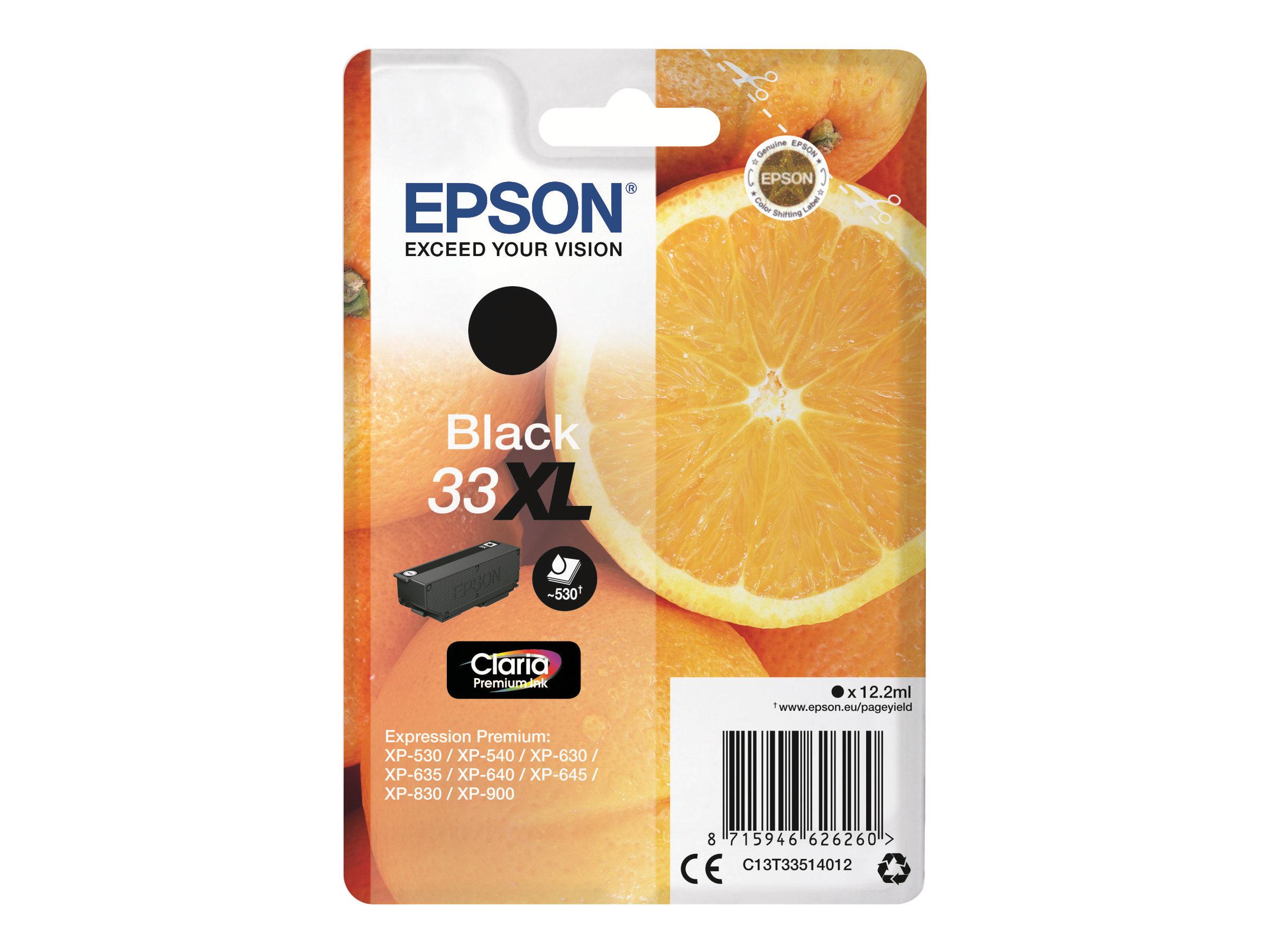 Epson 33XL Oranges - noir - cartouche d'encre originale