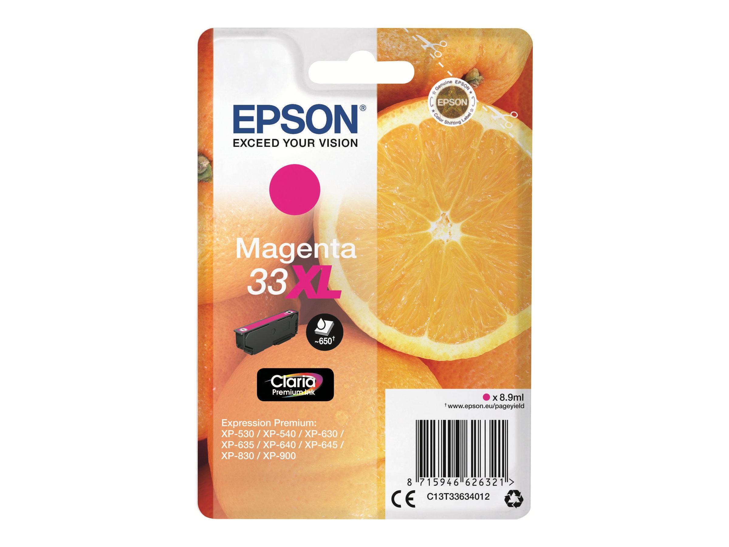 Epson 33XL Oranges - magenta - cartouche d'encre originale