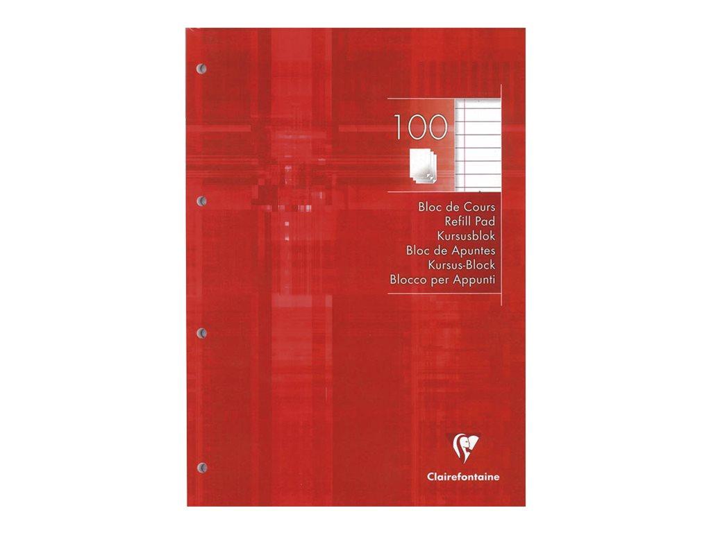 Rhodia - Bloc de cours - A4 - 200 pages - ligné - perforé