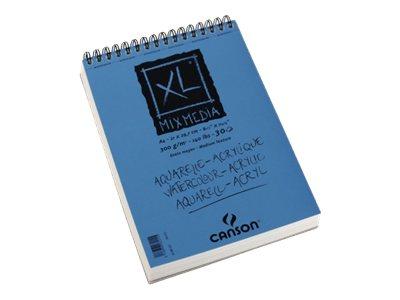 Canson XL Mix Media - Bloc dessin croquis - 30 feuilles - A3 - 300 gr - blanc