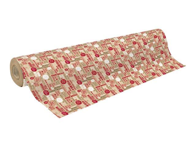 Clairefontaine - Papier cadeau kraft - 70 cm x 50 m - 70 g/m² - motif mots de Noël