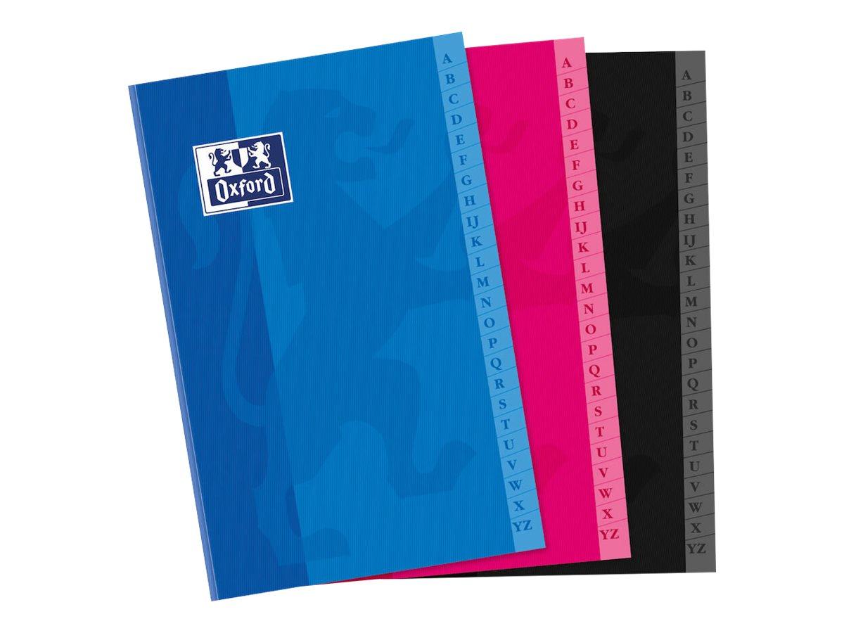 Oxford - Répertoire broché 11 x 17 cm - 192 pages - petits carreaux (5x5 mm) - disponible dans différentes couleurs